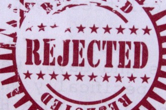 "Stamp that says ""Rejected"""