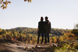 Intentional Couple Looking Over Landscape